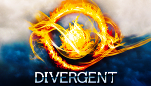 Divergent book cover design Veronica Roth Dauntless Symbol