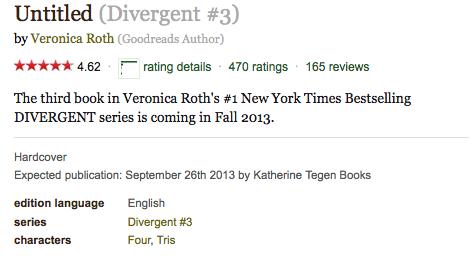 Divergent Book 3 Release Date