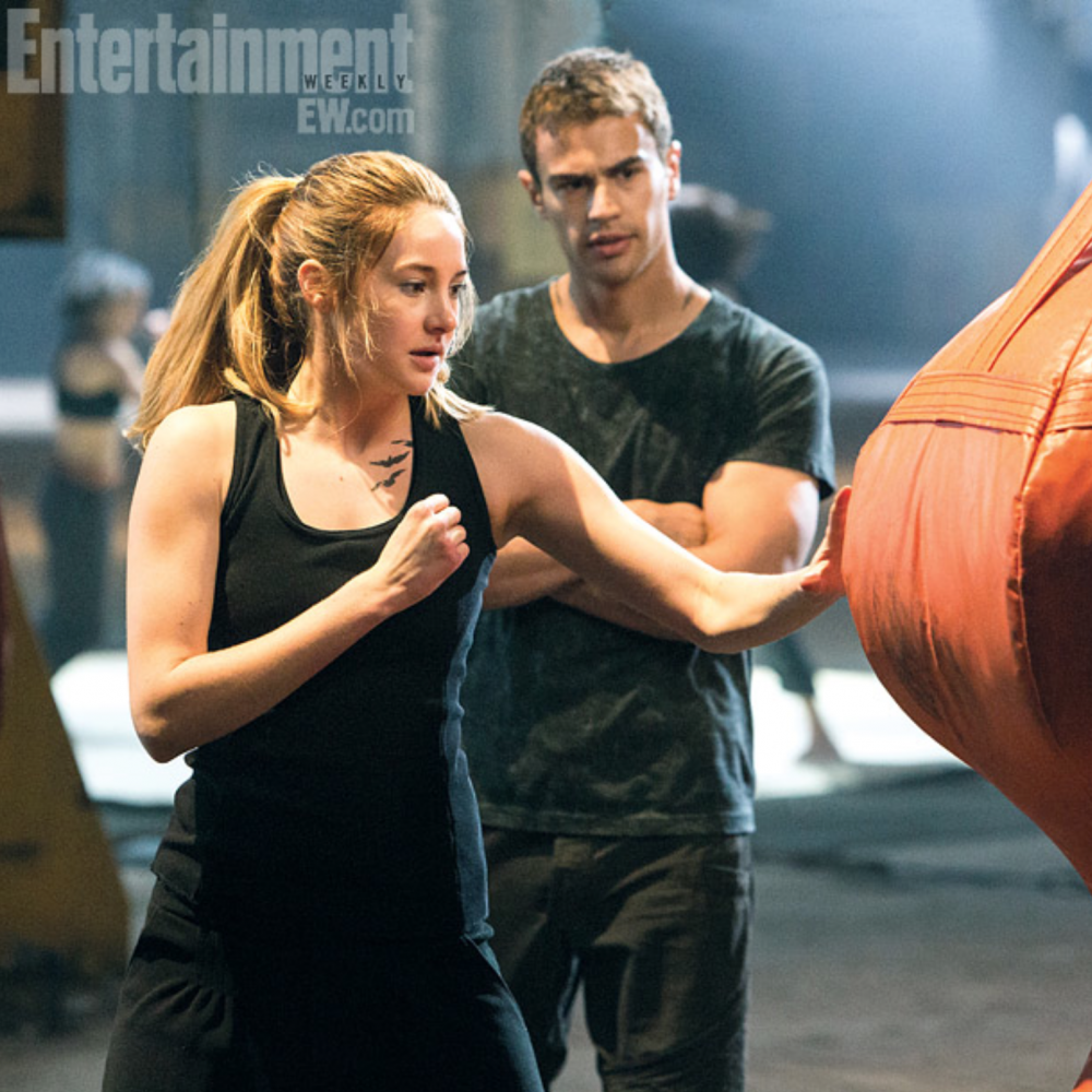 Bibliophile Mystery: Divergent Movie: Tris and Four.